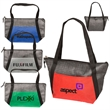 Tonal Non-Woven Cooler Tote - Cooler tote made of 80 GSM exterior and EPE foil lining with front pocket and zippered main compartment
