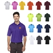 Core365® Men's Origin Performance Pique Polo - Men's 100% polyester pique polo with moisture wicking, antimicrobial and UV protection properties