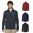 Core365® Men's Cruise Two-Layer Fleece Soft Shell Jacket - Soft shell jacket for men with water repellent finish, two layers, full zipper and pockets