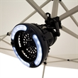 Combo LED Light and Fan - This light and fan combo is lightweight and portable.