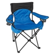 Deluxe Padded Folding Chair With Carrying Bag - Folding chair with steel tubular frame, 300 lb. weight limit, and a wide padded seat and back.