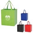 Curved Diamond Shopper Tote Bag - Reusable shopping tote bag made of polypropylene and available in multiple product colors.
