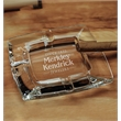 Cigarro Ashtray - Ashtray made of fine quality imported glass with sculpted square shape.