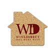 House Shaped Cork Coaster - House shaped cork coaster made of natural cork. Absorbent and durable.