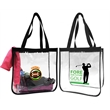 Clear Stadium Tote Bag - Open Stadium Tote, NFL & PGA Compliant, Clear PVC, Clear Open Tote, Complies with the new NFL & PGA security bag requirements