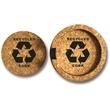 Laser Engraved Recycled Cork Coaster Set Round - Laser engraved recycled cork coaster set.
