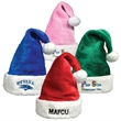 Plush Santa Hat - Plush Santa Claus hat with white trim and a variety of color options.