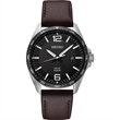 Seiko Men's Essentials Brown Leather Strap Watch - Seiko Men's Essentials. Designed with a stainless steel case and brown leather strap