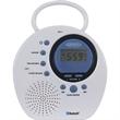 Jensen Water Resistant Bluetooth Shower Clock Radio - Hands-Free Speakerphone with Built In Mic.
