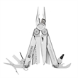 Leatherman Wave Plus Multi Tool - Stainless steel multi-function tool with wire cutters, serrated knife, pliers, saw, scissors and more