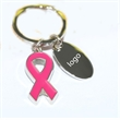 Pink Ribbon Breast Cancer Awareness Keychains Key Rings