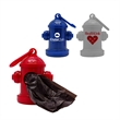 Fire Hydrant Bag Dispenser - Plastic fire hydrant shaped pet waste bag dispenser with clip. 10 bags included.