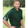 Adidas 3-Stripes Cuff Sport Shirt - Adult golf three stripe cuff polo shirt. Blank product.