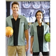 Hilton Monterey Bowling Shirt - Adult bowling shirt 100% polyester with hemmed shirt.