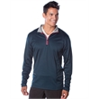 Independent Trading Co. Lightweight Poly-Tech Quarter-Zip... - Lightweight jacket with exposed coil zipper and reflective piping.