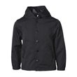 Independent Trading Co. Youth Water Resistant Hooded Wind... - Youth Water Resistant Hooded Windbreaker Coaches Jacket