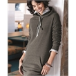 Independent Trading Co. Women's Special Blend Hooded Swea... - Women's pullover dress with an unlined hood, crossover neckline with two drawcord colors, and thumbholes at the cuffs.