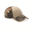 Kati Camo Cap with Solid Front - Solid front camouflage cap with a pre-curved visor and structured, six-panel, mid-profile design.