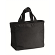 """Surprise Microfiber Tote - Surprise microfiber tote measuring 12"""" x 14"""" x 6 1/2"""" with several pockets for storage and self-fabric handles."""