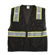 "ML Kishigo Mesh Enhanced Visibility Multi-Pocket Vest - 100% polyester mesh vest with 2"" wide reflective material and multiple pockets."