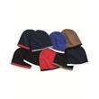 "Sportsman 8"" Bottom-Striped Knit Beanie - Striped 8"" knit cap, 100% acrylic. Blank product."