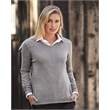 Weatherproof Women's Vintage Cotton Cashmere V-Neck Sweater - Women's cotton cashmere v-neck sweater with 1x1 rib collar.