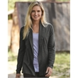 Weatherproof Women's Vintage Cotton Cashmere Cardigan - Women's open cardigan made of 95/5 cotton/cashmere with hemmed sleeves.