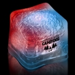 """Red White & Blue Light Up Premium LitedIce Brand Ice Cube - 1 3/8"""" frosted plastic premium ice cube with built-in red, white & blue LED lights that have 3 light settings"""