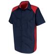 Red Kap Short Sleeve Motorsports Shirt - Short sleeve polyester/cotton poplin shirt with soil-release and moisture-wicking properties.