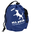 "Pet Treat Bag - Brightly colored 6"" x 7"" 210D Lined Polyester Tote for Dog Treats."
