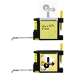 The All-In-One Tape Measure - Tape measure with level, sticky notepad, pen and belt clip.