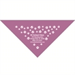 "Custom Print Large Pet Triangle Lavender Bandanna 22""x22""x29 - Custom Print Large Pet Triangle Lavender Bandanna, 22""x22""x29"", quality 100% cotton"
