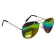 Rainbow Aviators - Climb to higher altitudes by adding your company name or logo to these rainbow lenses Aviator sunglasses!