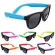 """Children's Sunglasses - Children's black sunglasses with neon colored temples. 5"""" x 4 1/2""""."""
