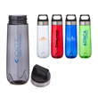 Lucent 26 oz. Tritan™ Water Bottle - 26 oz. Tritan bottle; translucent bottle with stainless steel band on screw-top lid and a carrying handle.