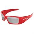Wrap Mirror Sunglasses w/ 1-color imprint - Quality PC Wrap sunglasses with mirror UV400 impact resistant PC lenses.