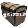 Treasure chest shaped cooler - Treasure chest shaped cooler