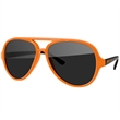 2-Tone Aviator Sunglasses - Quality polycarbonate sunglasses with dark UV400 lenses available in 10 colors.