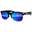 Club Sport Mirror Sunglasses w/ 1-color imprint - Quality PC Club Sport sunglasses with mirror UV400 impact resistant PC lenses.