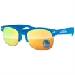 Club Sport Mirror Sunglasses w/ 1-color imprints - Quality PC Club Sport sunglasses with mirror UV400 impact resistant PC lenses.