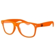 Retro Geek Glasses w/ 1-color imprint - Quality PC Retro sunglasses with clear UV400 impact resistant PC lenses.