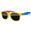 3-Tone Retro Sunglasses w/ 1-color imprint - Quality PC Retro sunglasses with dark UV400 impact resistant PC lenses.