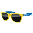 2-Tone Retro Sunglasses w/ full-color imprint - Quality PC Retro sunglasses with dark UV400 impact resistant PC lenses.