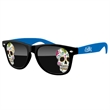 2-Tone Retro Sunglasses w/ full-color imprints - Quality PC Retro sunglasses with dark UV400 impact resistant PC lenses.