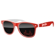 2-Tone Retro Sunglasses w/ 1-color imprint - Quality PC Retro sunglasses with dark UV400 impact resistant PC lenses.
