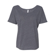 BELLA + CANVAS Women's Slouchy Tee - Women's flowy crewneck drop sleeve shirt. Blank product.