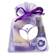 Aromatherapy Kit w/Lavender Pillow Spray & Soap in Organza - Organza bag filled with lavender pillow spray & lavender cold processed soap