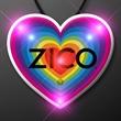 Retro Rainbow Heart Blinky Necklace