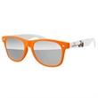 2-tone Retro Sunglasses - 1 Full-color Temple Imprint + UV400 Mirror Lenses