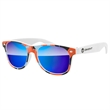 Retro Mirror Sunglasses w/ full-color imprint - Quality PC Retro sunglasses with mirror UV400 impact resistant PC lenses.